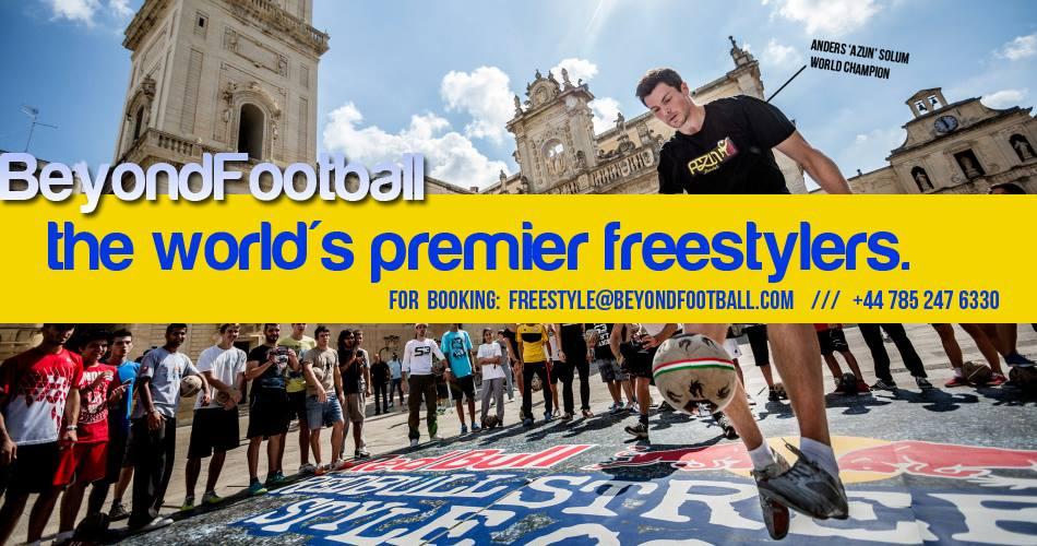 Hire A Football Freestyler - Soccer Freestyler - World Cup Brazil