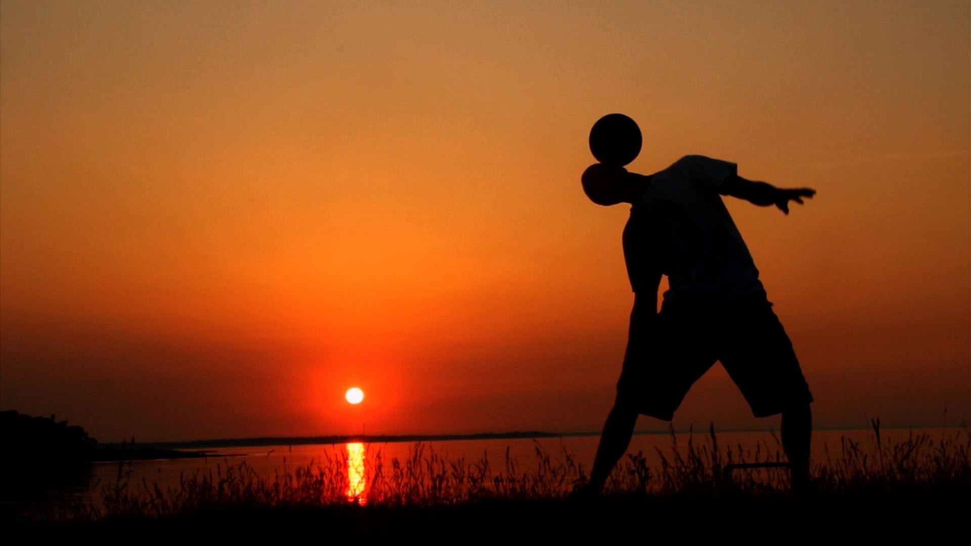 Sunset freestyle football freestyle soccer beyond football