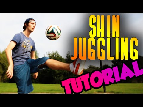 Shin Juggling TUTORIAL – Learn to juggle a Football with your Shins